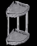 етажерка двойна – с две плитки кошнички