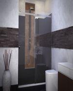 Плъзгащ паравн Style в черно-бяла баня