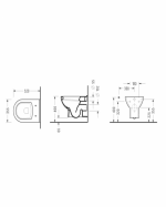 Конзолна тоалетна чиния - серия FRIENDLY Soft Close