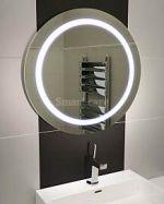 кръгло огледало с осветление
