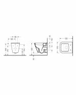 Конзолна тоалетна чиния Diagonal с  вградено биде