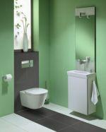 Конзолна тоалетна чиния - серия Tonic 55см обикновен капак