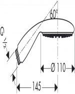 Ръчен душ Hansgrohe Raindance E 100 AIR 1jet