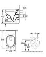 Окачена овална тоалетна V&B - Omnia Architectura 53см