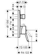 Смесител за вграждане с превключвател Hansgrohe Focus S