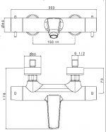 Термостатичен смесител за вана/душ TEKA Pacific