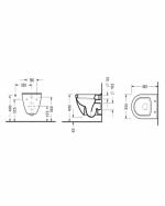 Конзолна тоалетна чиния SMART 48.5см с забавено падане и вграден
