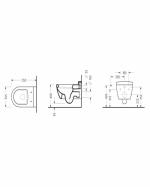 Конзолна тоалетна чиния - серия SAPHIRE