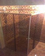 Безрамкова плъзгаща душ кабина с две врати Wide