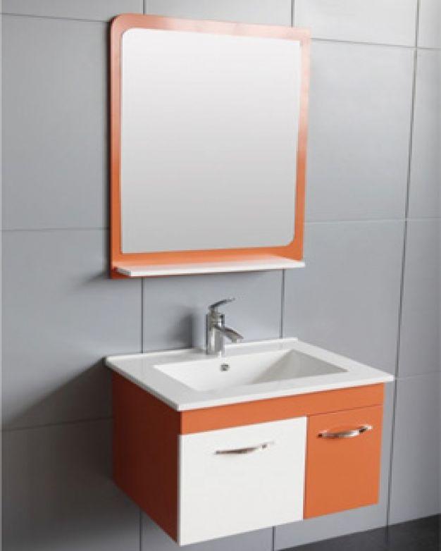Оранжев шкаф за баня ICP 6046