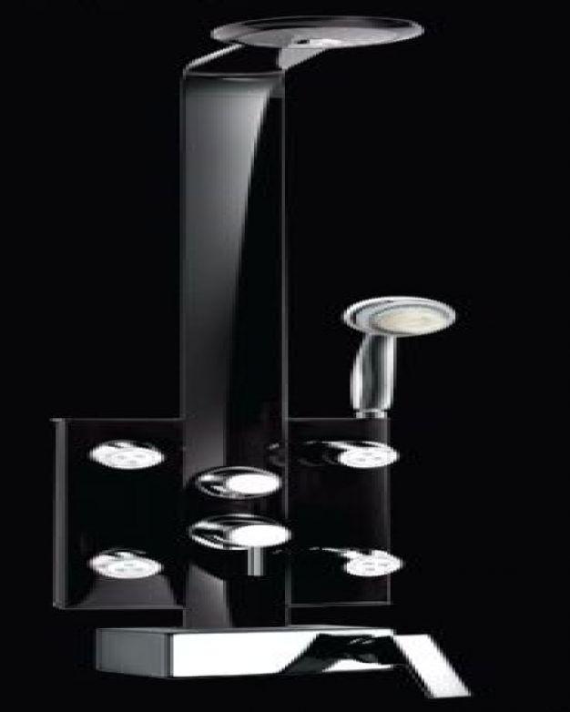 Черен душ панел