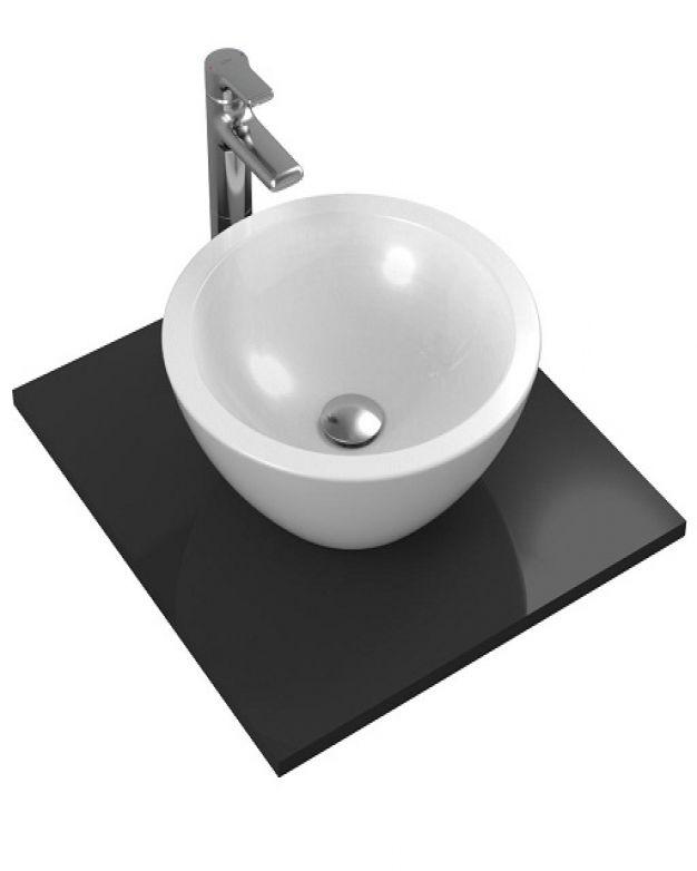 Кръгла мивка за монтаж върху плот - Strada О 42х42см