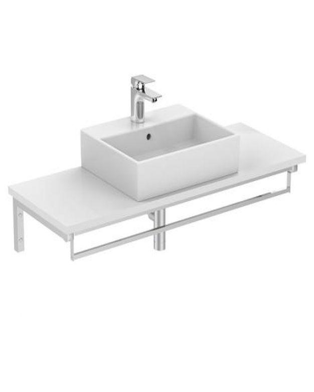 Правоъгълна мивка за монтаж върху плот - Strada 50x42см