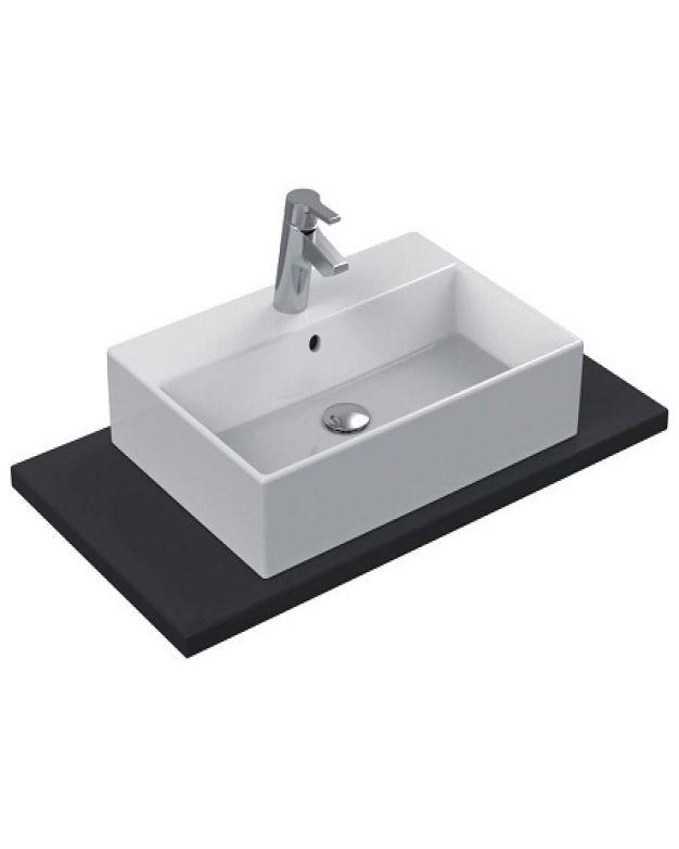 Правоъгълна мивка за монтаж върху плот - Strada 60х42см