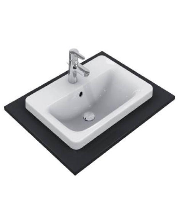 Правоъгълна мивка за вграждане - Connect 58х42см