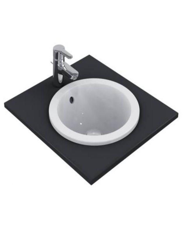 Кръгла мивка за вграждане - Connect 38см