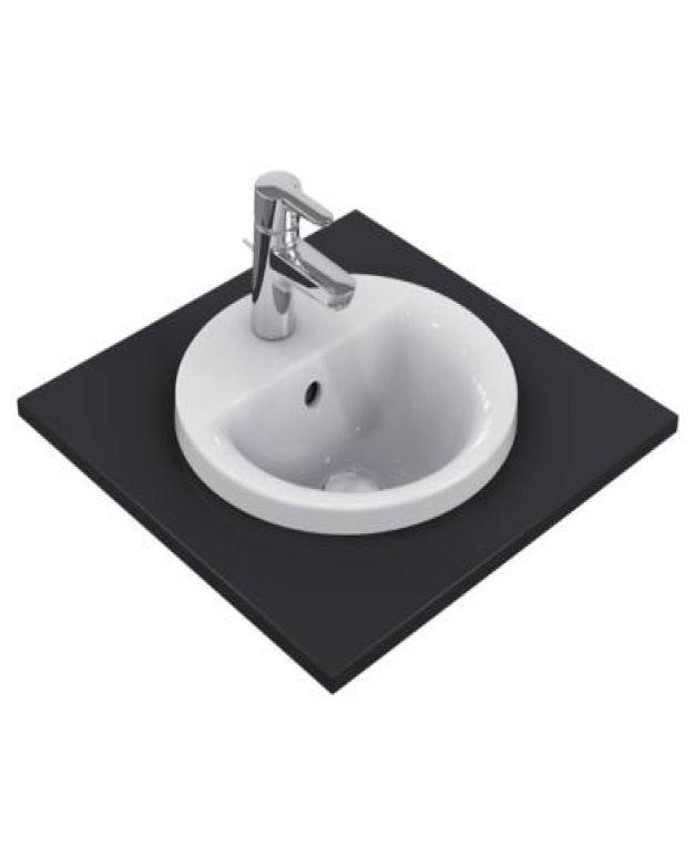 Кръгла мивка за вграждане - Connect 38 см