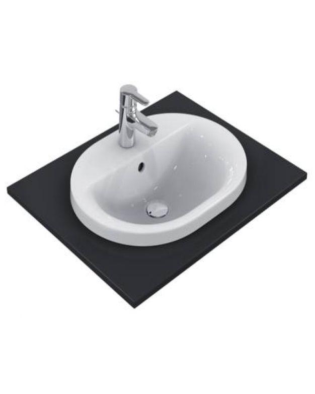 Овална мивка за вграждане - Connect 55x43см