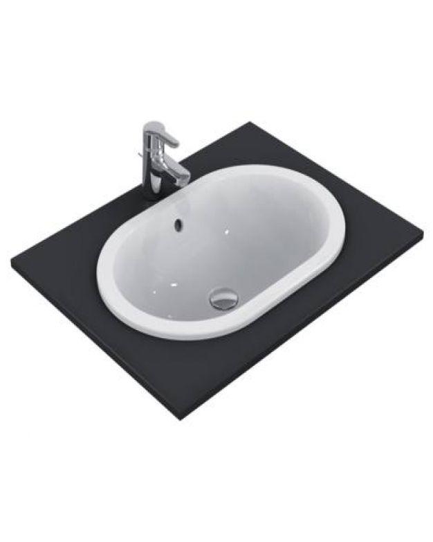 Овална мивка за вграждане - Connect 62x41см
