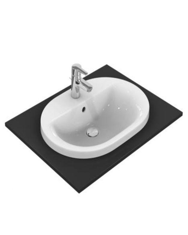 Овална мивка за вграждане - Connect 62x46см