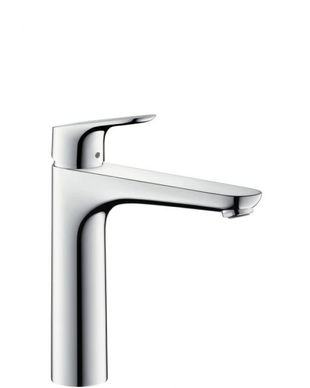 Смесител за мивка висок Hansgrohe Focus 190 с изпразнител