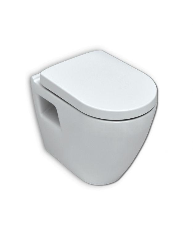 Конзолна тоалетна чиния SMART с забавено падане и вградено биде