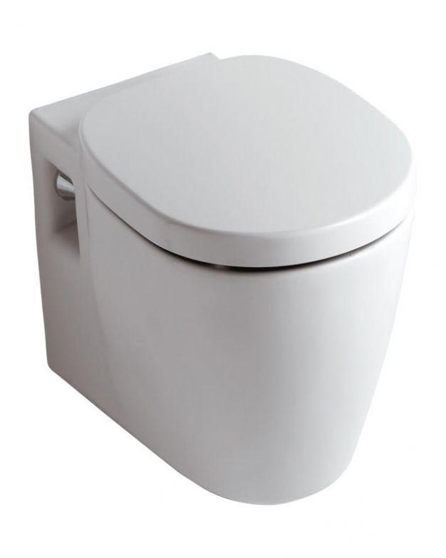 Окачена тоалетна чиния  - серия Connect 54см капак плавно падане