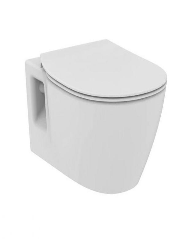 Окачена тоалетна чиния-Connect 54см-тънка седалка плавно падане