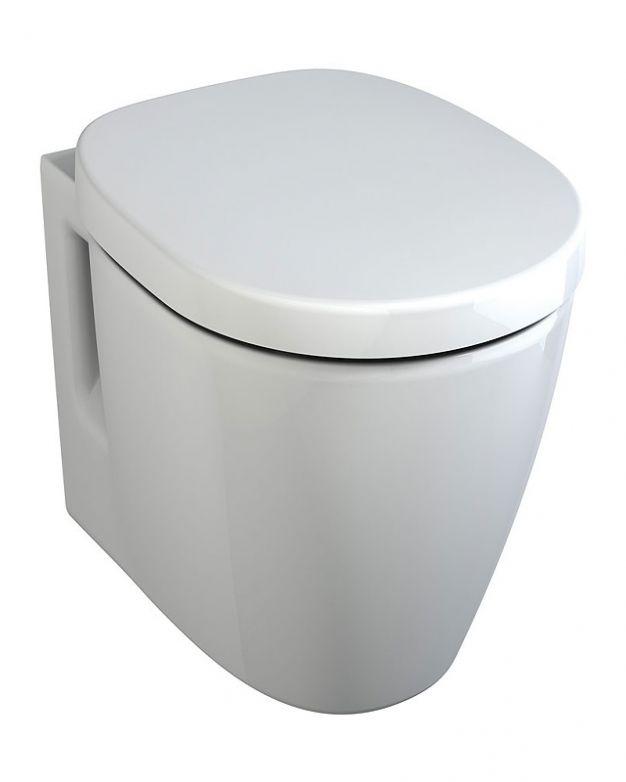 Конзолна тоалетна чиния - Connect Space 48см капак плавно падане