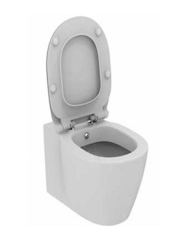 Окачена тоалетна чиния -серия Connect 54см с капак плавно падане