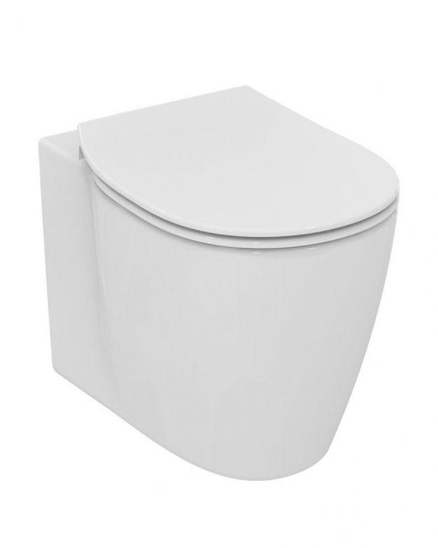 Окачена тоалетна чиния -  54см с биде и тънка седалка плавно пад