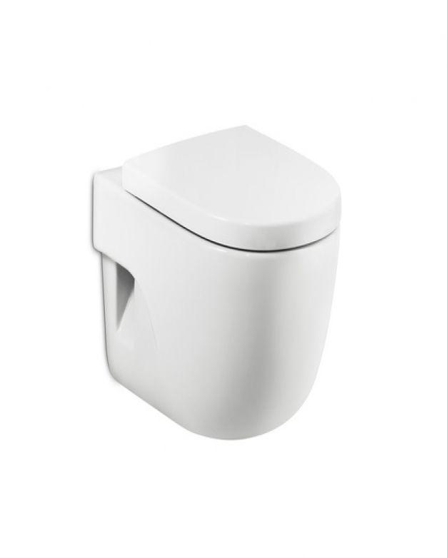Конзолна тоалетна чиния - ROCA Meridian 56см капак плавно падане