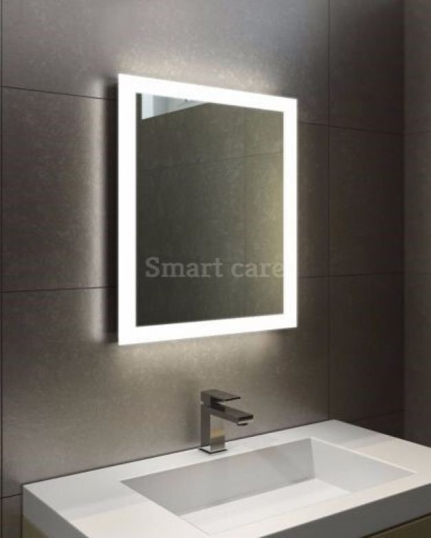 квардатно огледало с ЛЕД осветление