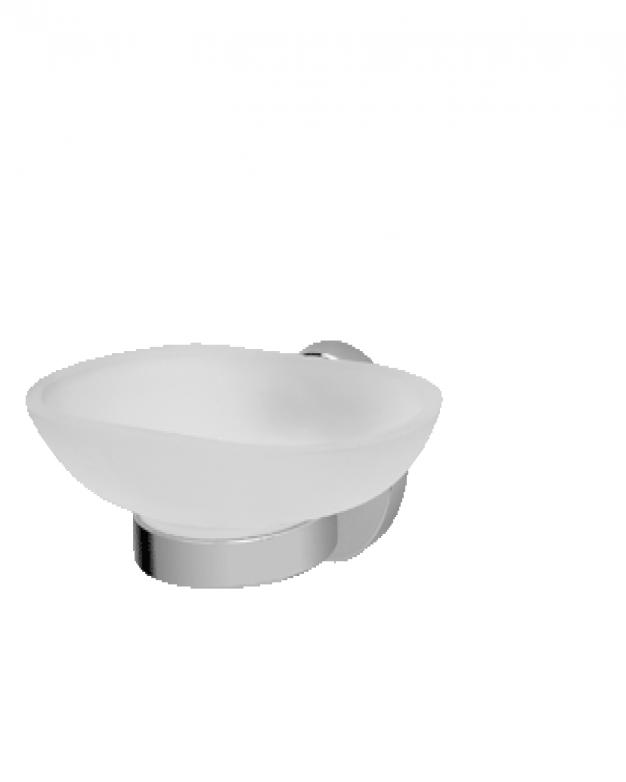 B8398AA  Стъклена сапуниера с държач
