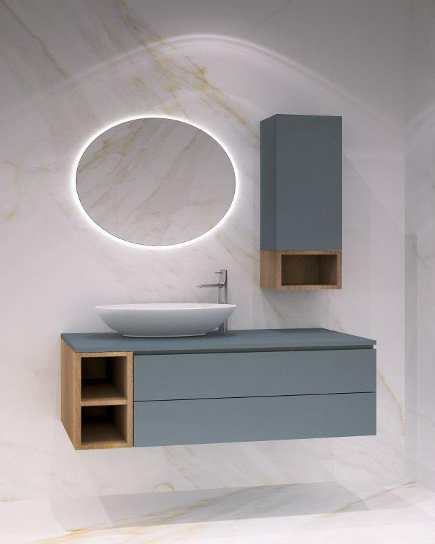 Шкаф и колона Valencia от материали дърво и PVC - вариант 2
